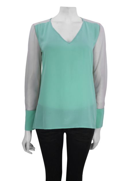 Blusa Mixed Tule Verde