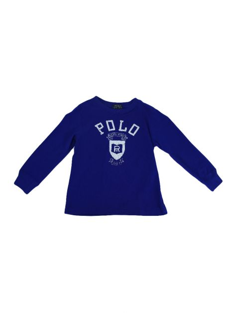 Blusa Polo Ralph Lauren Estampada Azul Toddler