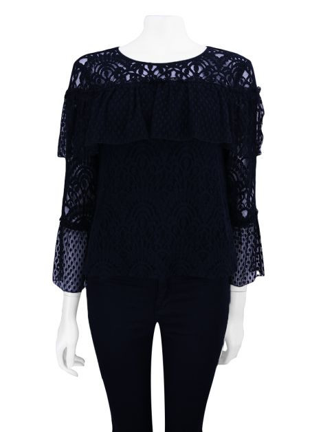 Blusa Seven For All Mankind Renda Preto