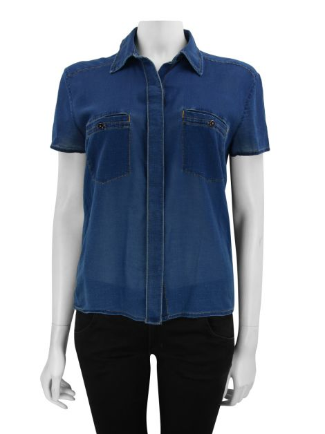Blusa Seven For All Mankind Reta Azul