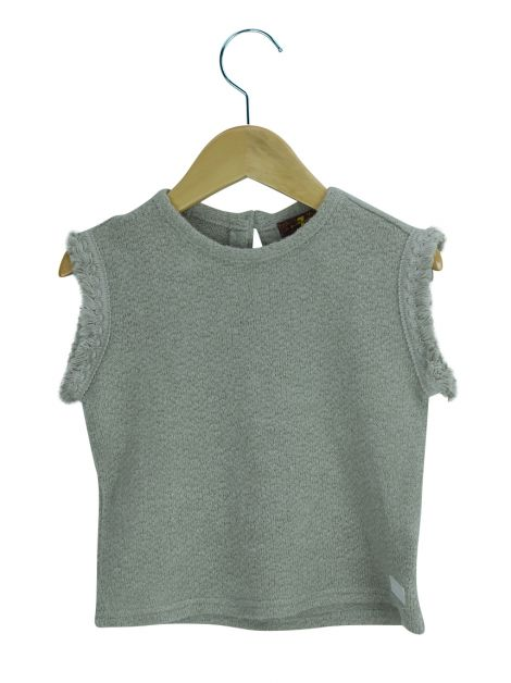 Blusa Seven For All Mankind Tricot Cinza Infantil