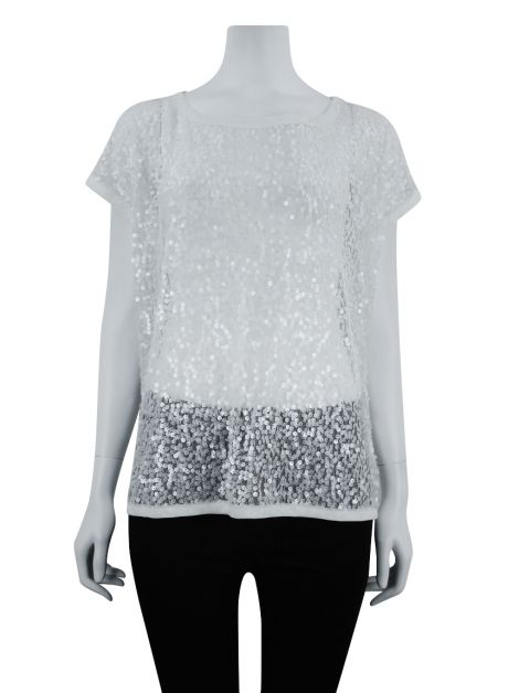 Blusa Ted Baker Paetês Off-White