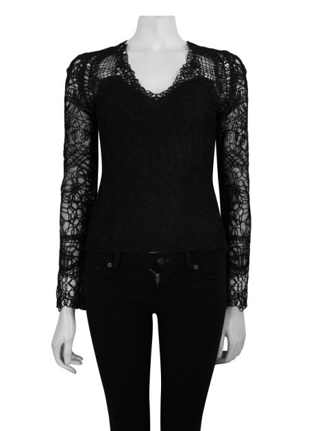 Blusa Tom Ford Cordas Preto