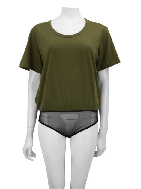 Body A. Niemeyer Camiseta Verde Militar