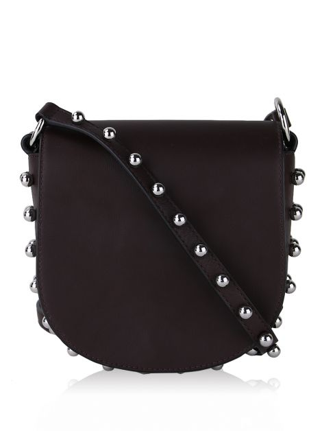 Bolsa Alexander Wang Mini Lia Saddle Ameixa