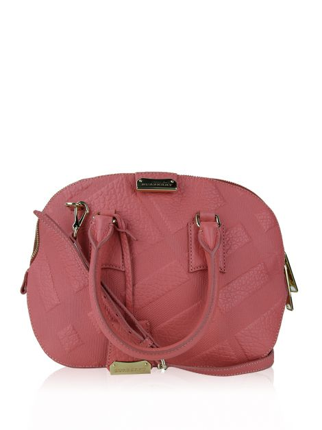 Bolsa Burberry Orchard Embossed Rosa