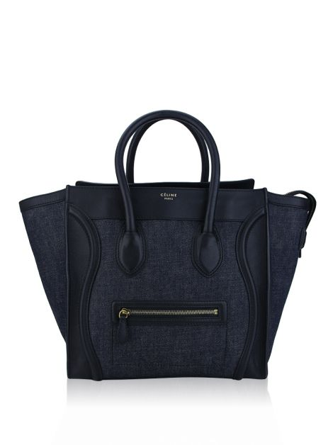 Bolsa Celine Luggage Mini Denim