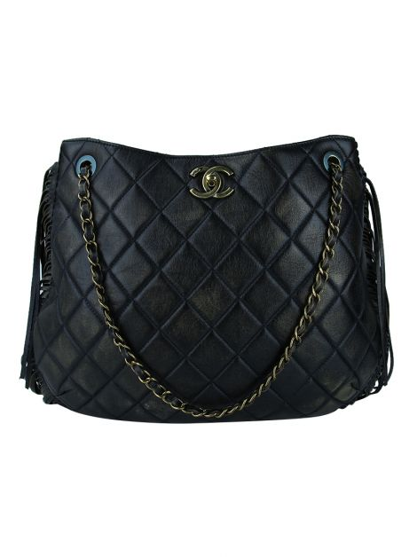 Bolsa Chanel Into The Fringe Hobo Preto
