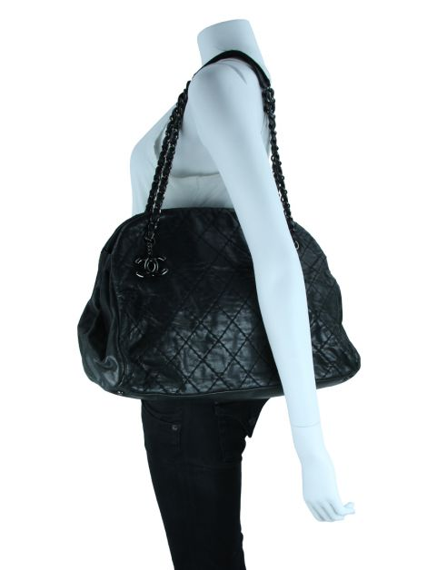 Bolsa Chanel Just Mademoiselle Stitch Iridescent Preto