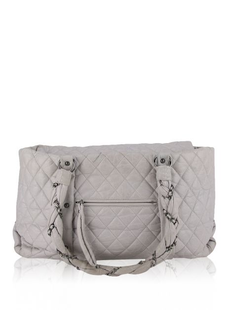Bolsa Chanel Lady Braid Bowler Cinza