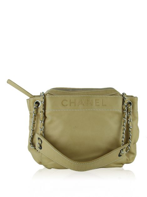 Bolsa Chanel Lax Accordion Bege