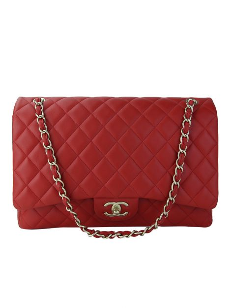 Bolsa Chanel Maxi Double Flap Vermelha