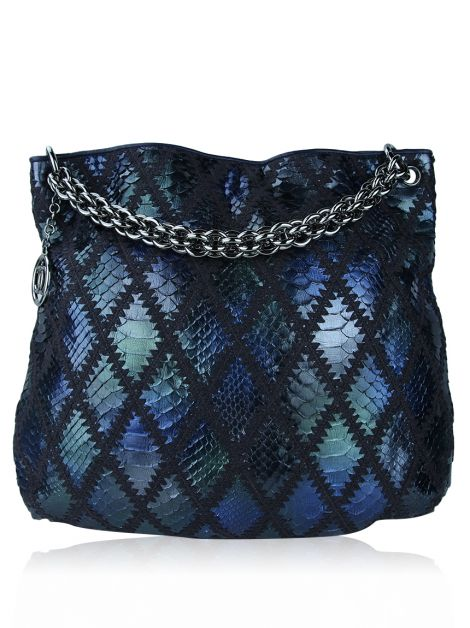 Bolsa Chanel Python Crochet Soft Hobo