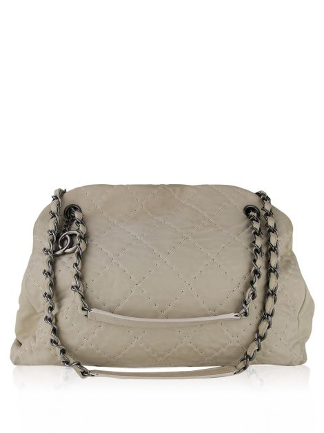 Bolsa Chanel Quilted Iridescent Leather Just Mademoiselle Bege