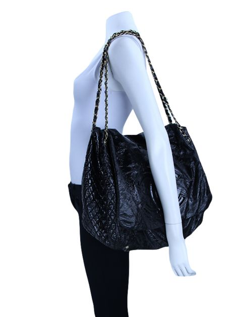 Bolsa Chanel Rock And Chain Verniz Preto