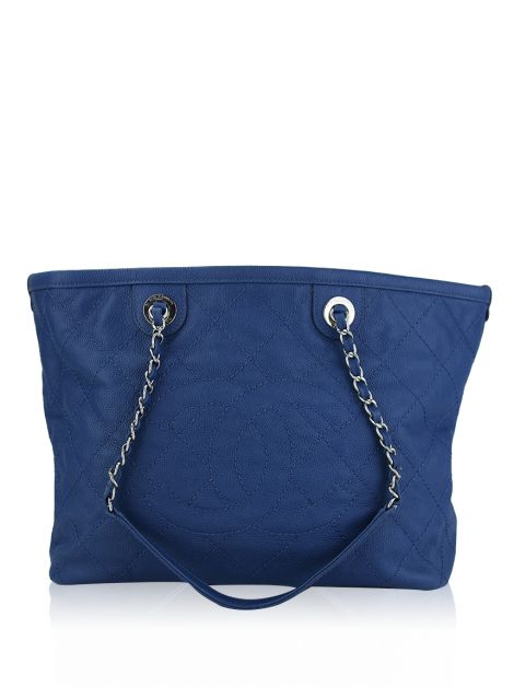 Bolsa Chanel Shopping CC Timeless Azul