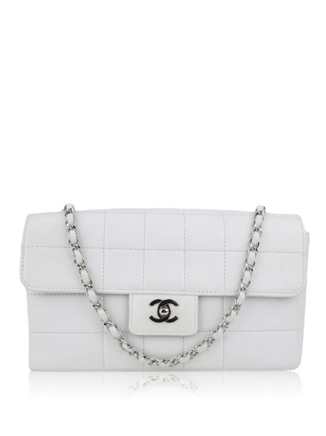 Bolsa Chanel Single Flap Gelo