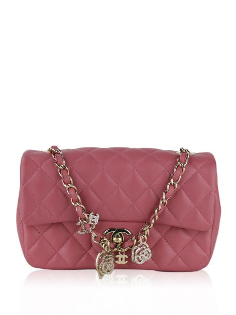 Bolsa Chanel Single Flap Valentines Rosa