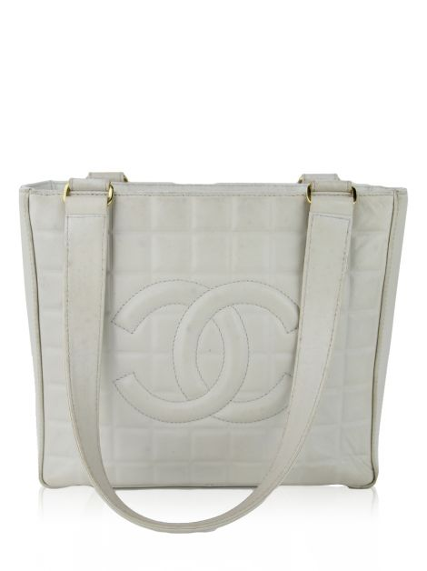 Bolsa Chanel Vintage Chocolate Bar Tote Gelo