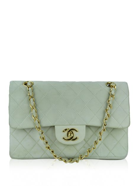 Bolsa Chanel Vintage Double-Flap Small Creme