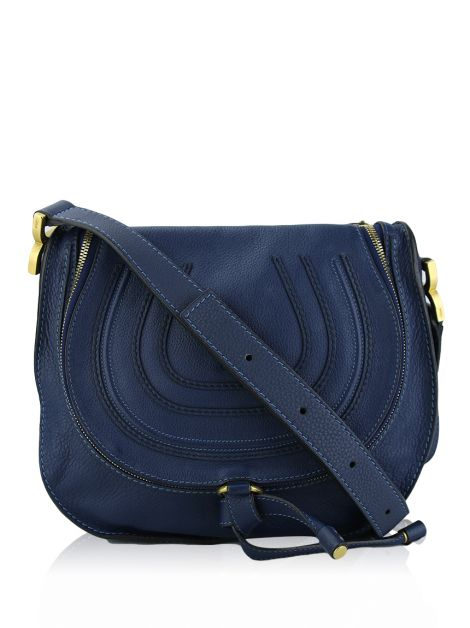 Bolsa Chloé Medium Marcie Zip Crossbody Azul