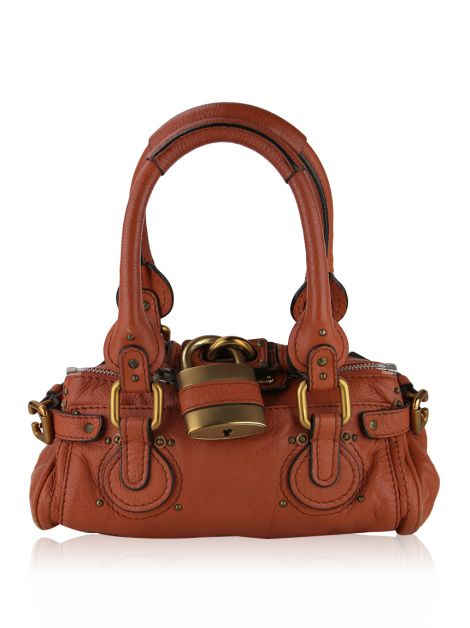 Bolsa Chloé Paddington Mini Satchel Laranja