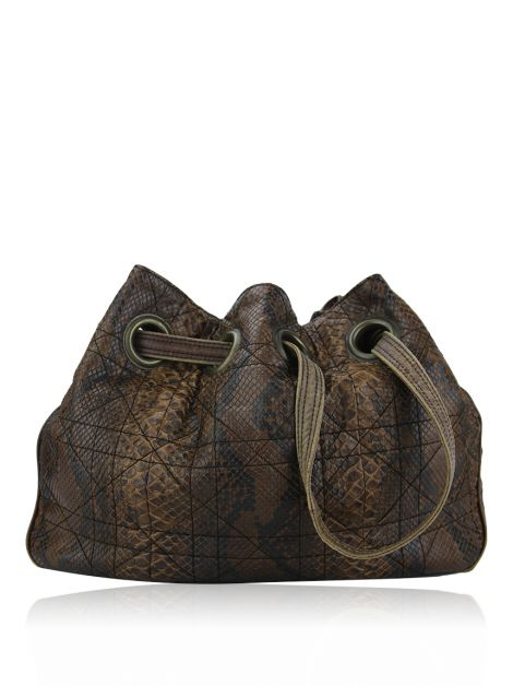 Bolsa Christian Dior Limited Edition Python Marrom