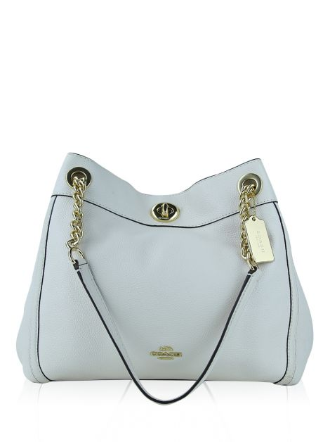 Bolsa Coach Edie 31 Turnclock Off-White