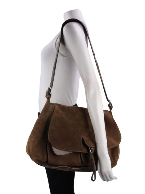 Bolsa Fontana Milano 1915 Wight Saddle Hobo Marrom