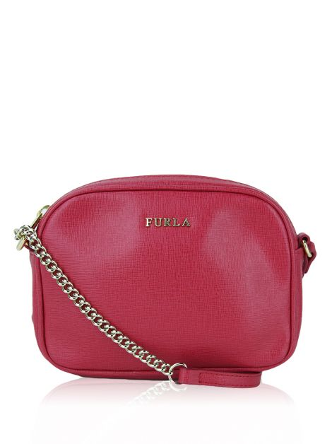 Bolsa Furla Miky Mini Crossbody Cereja
