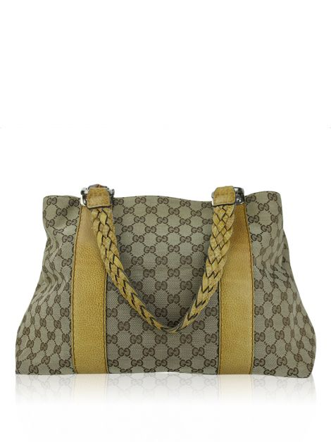 Bolsa Gucci Bamboo Bar GG Canvas