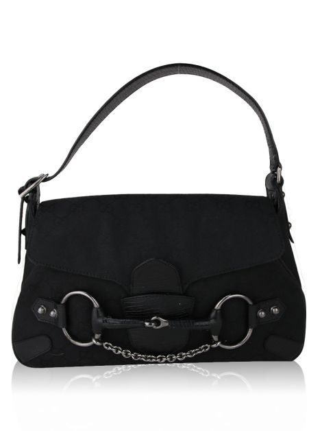 Bolsa Gucci Horsebit Chain Preta
