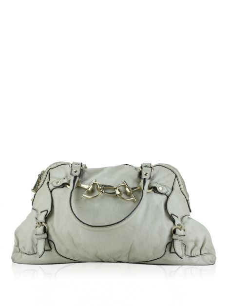 Bolsa Gucci Horsebit Nail Boston Off-White