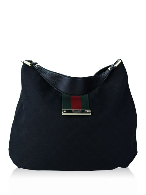 Bolsa Gucci New Ladies Web Hobo Preta