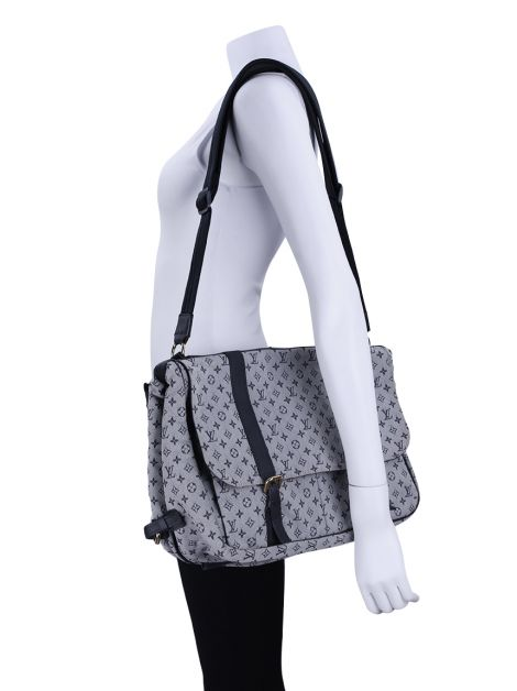 Bolsa Louis Vuitton Mini Lin Sac a Langer Diaper Azul