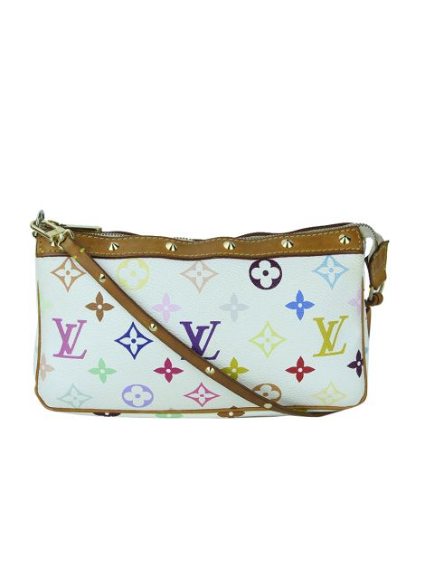 Bolsa Louis Vuitton Multicolore Pochette Accessories Branca