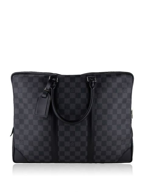 Bolsa Louis Vuitton Porta Documentos Voyage Damier Grafite