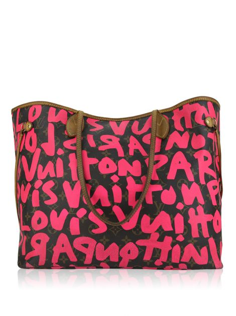 Bolsa Louis Vuitton Stephen Sprouse Graffiti Neverfull Neon Pink
