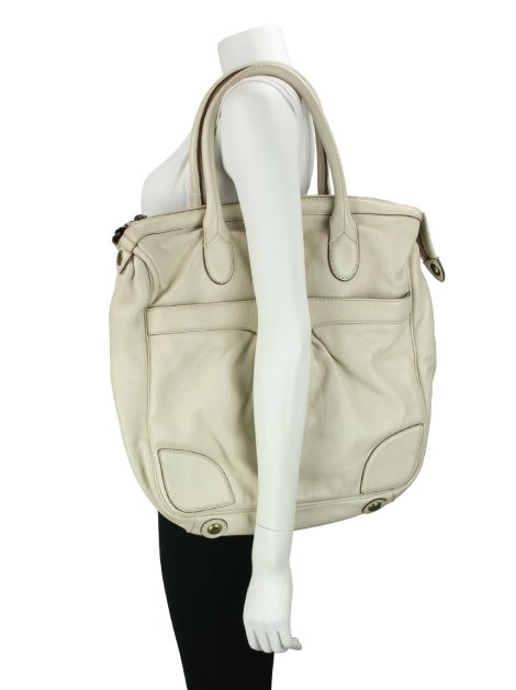 Bolsa Marc by Marc Jacobs Couro Off White