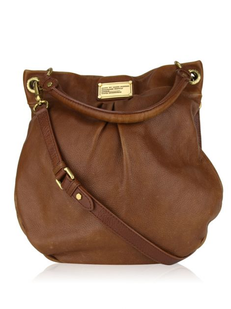 Bolsa Marc by Marc Jacobs Classic Q Hillier Hobo Marrom
