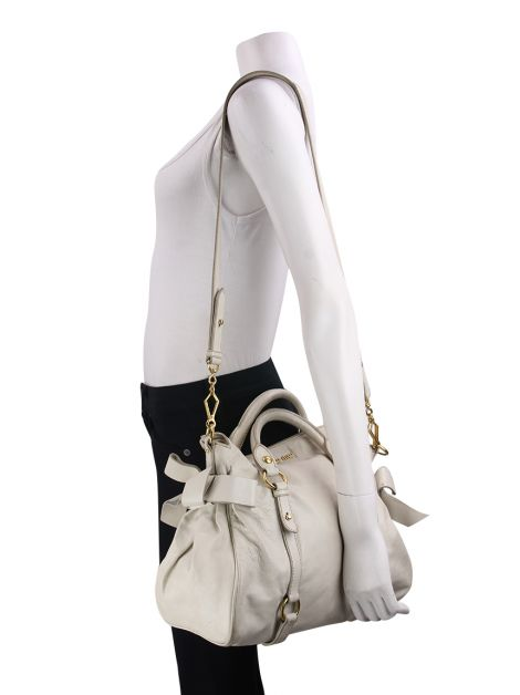 Bolsa Miu Miu Bow Bag Off White