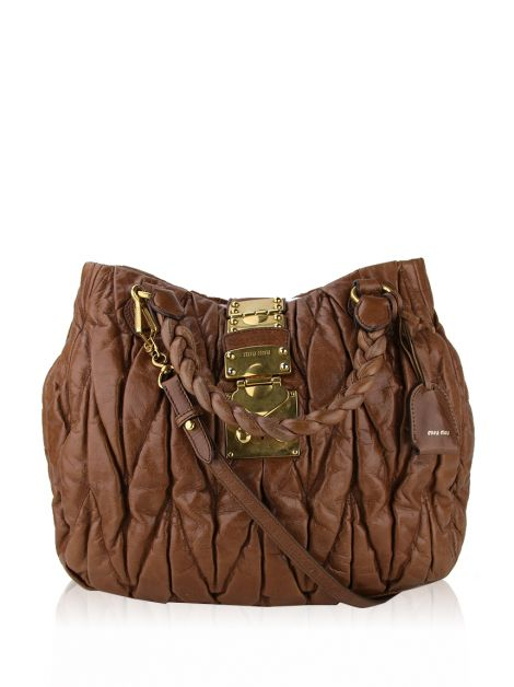 Bolsa Miu Miu Coffer Two Way Marrom