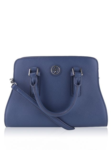 Bolsa Tory Burch Crossbody Robinson Mini Curved Azul