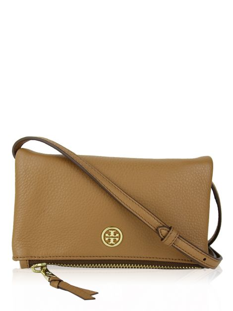Bolsa Tory Burch Robinson Mini Fold Over Crossbody Caramelo