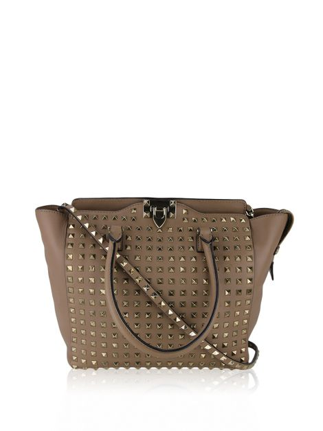 Bolsa Valentino Rockstud All Over Bege