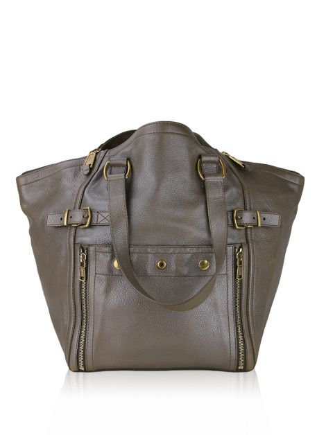 Bolsa Yves Saint Laurent Downtown Prateada