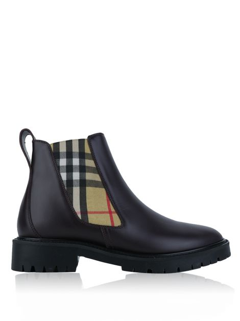Bota Burberry Chelsea Bordô