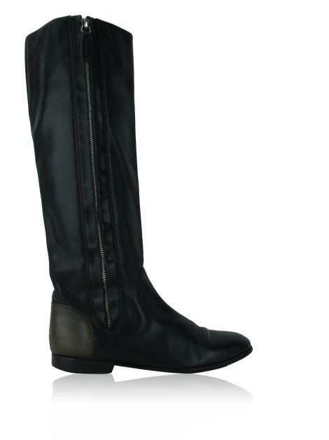 Bota Chanel Riding Preto