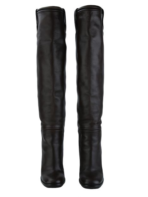 Bota Gucci Lifford Nero Over the Knee Marrom