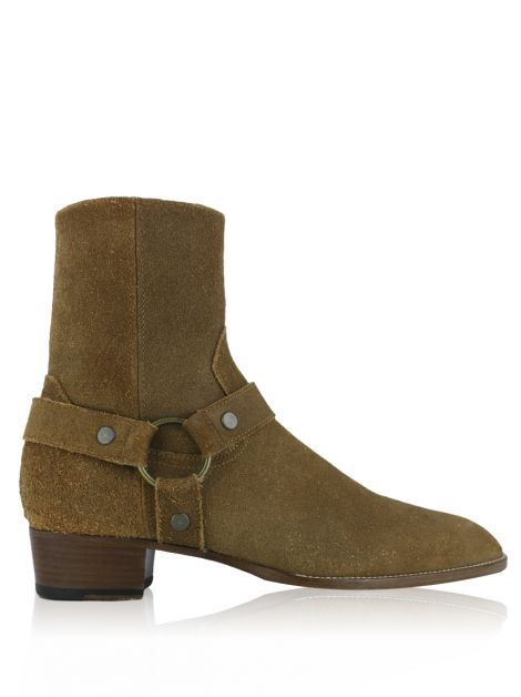 Bota Saint Laurent Paris Classic Wyatt Camurça